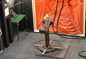 Blasting chamber of L-door installation ALS 3500 R GH1 P