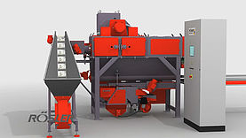 Continuous feed loop belt blast machine - SBM - Shot blasting